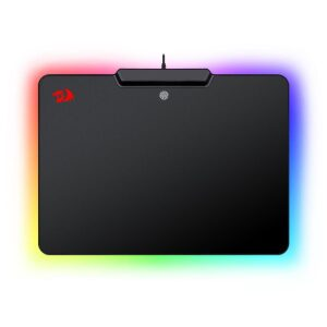 Redragon Epeius Hard Gaming Mousepad with Chroma Back Lighting (P009-BK) Size 358mm x 265mm x 11mm
