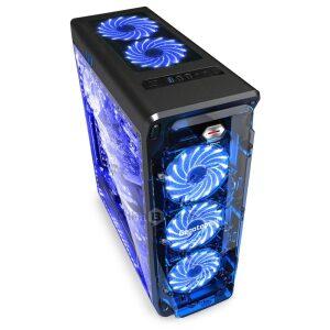 Segotep Lux II Black, 3 x Fan blue Support ATX / Micro-ATX / ITX