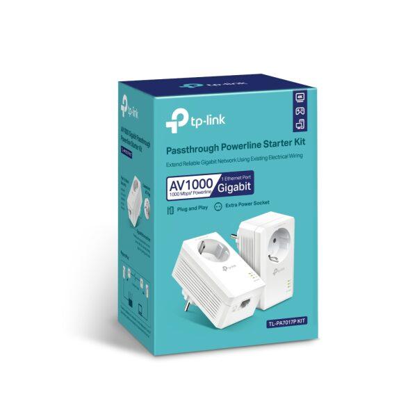TP-Link PowerLine TL-PA7017P KIT AV1000 Gigabit Passthrough V4.0