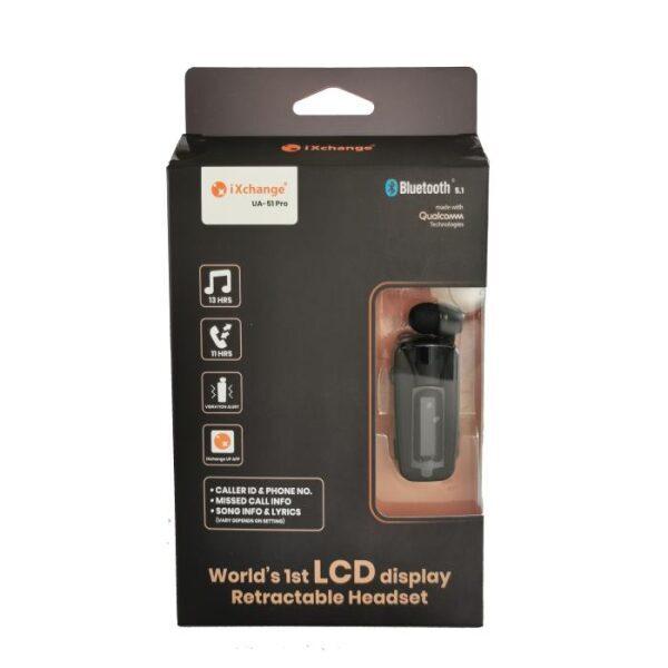 iXchange Retractable Bluetooth Headset LCD UA51 Pro