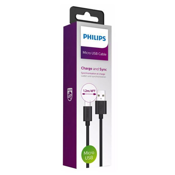 PHILIPS Cable USB to Micro 1.2m Black