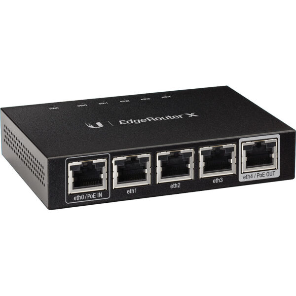 Ubiquiti EdgeRouter X 5x Gigabit Router Ports, 256MB DDR3 RAM, 1x PoE in, 1x PoE out