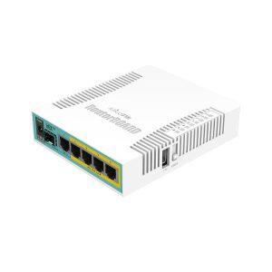 Mikrotik hEX PoE (RB960PGS) 5x Gigabit Ethernet 800MHz CPU 1xPOE IN & 4xPOE OUT 128MB RAM Level 4