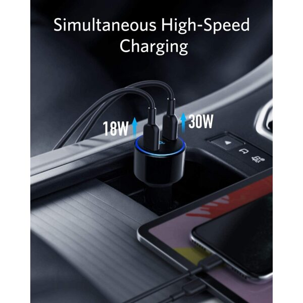 ANKER POWERDRIVE+ III DUO, CAR FAST CHARGER TYPE-C