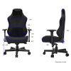 ANDA SEAT Gaming Chair AD18 T-PRO Black FABRIC with Alcantara Stripes