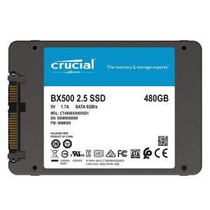 Crucial SSD 480GB BX500 Sata 6GB/S 2.5'' (CT480BX500SSD1)