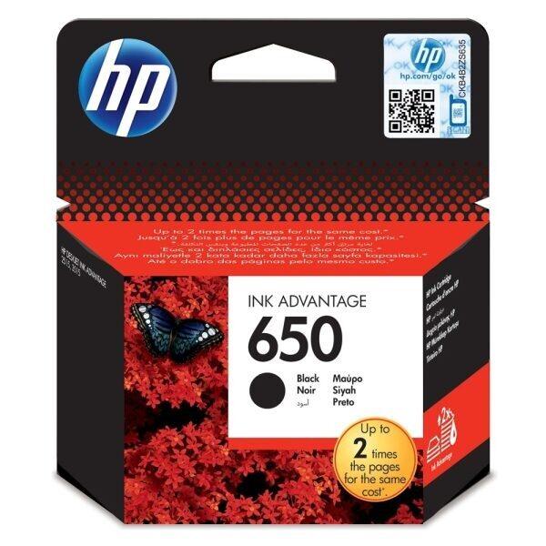 HP Μελάνι Γνήσιο 650 Μαύρο