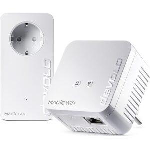 DEVOLO POWERLINE MAGIC 1 WIFI MINI EU STARTER KIT (8568), 1x MAGIC 1 WIFI MINI (WIRELESS) & 1x MAGIC 1 LAN ADAPTER, 1200Mbps, SH