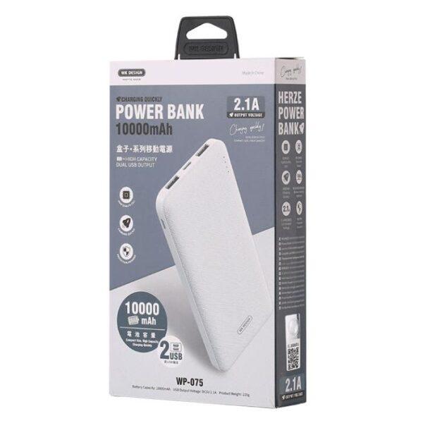 Power Bank WK 10000mAh HONOR White WP-101