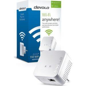 Devolo Powerline dLAN 550 WiFi SINGLE (9631), 1x dLAN 550 Wireless Access Point, dLAN 550Mbps, 3YearsWarranty