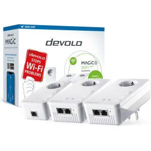 DEVOLO POWERLINE MAGIC 2 WIFI NEXT EU MULTIROOM KIT (8632), 1x MAGIC 2 LAN ADAPTER & 2x MAGIC 2 WiFi (WIRELESS) ADAPTER, 2400Mbp