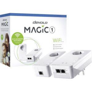 DEVOLO POWERLINE MAGIC 1 WIFI 2-1-2 EU STARTER KIT (8366), 1x MAGIC 1 LAN ADAPTER & 1x MAGIC 1 WiFi (WIRELESS) ADAPTER, 1200Mbps
