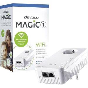 DEVOLO POWERLINE MAGIC 1 WIFI 2-1-1 EU SINGLE (8358), 1x MAGIC 1 WiFi (WIRELESS) ADAPTER, 1200Mbps, SHUKO, AC POWER OUT SOCKET,