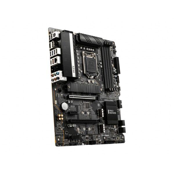 MSI MB Z590-A PRO, SOCKET INTEL LGA1200 11th/10th GEN, CS INTEL Z590, 4 DIMM SOCKETS DDR4, DP/HDMI, LAN INTEL 2.5G, ATX, 3YW.