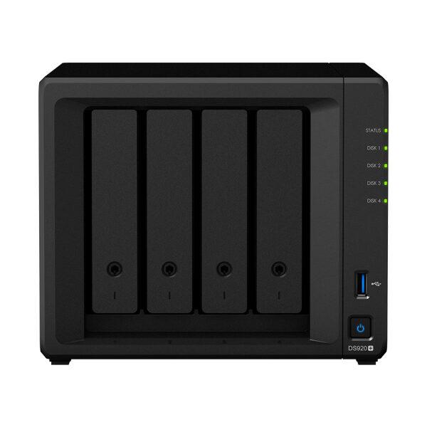 Synology DiskStation DS920+ NAS/SMB QC_CEL2.7GHz 4GB(UP TO 8GB), 4BAY, 3U3, 1ES, 2GL