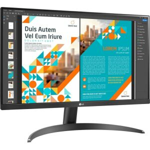 LG MONITOR 24QP500-B, LCD TFT IPS LED, QHD, 24, 16:9, 300 CD/M2, 1000:1, 5MS, 75Hz, 2560X1440, 2xHDMI/1xDISPLAY PORT/HP OUT, 3