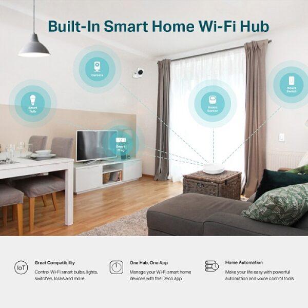 TP-LINK DECO M5 1-PACK AC1300 Whole-Home Wi-Fi Unit, Qualcomm