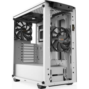 BEQUIET PC CHASSIS PURE BASE 500DX WINDOW WHITE BGW38, MIDI TOWER ATX, WHITE, ARGB, W/O PSU, 3X14CM PURE WINGS 2 FANS (FRONT, TO