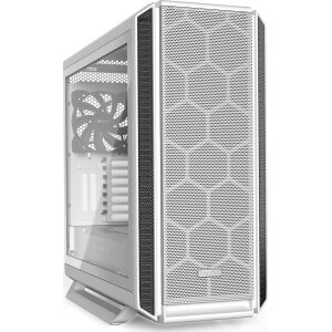 BEQUIET PC CHASSIS SILENT BASE 802 WINDOW WHITE BGW40, MIDI TOWER ATX, WHITE, W/O PSU, 2X14CM PURE WINGS 2 FAN, 1X14CM REAR PURE